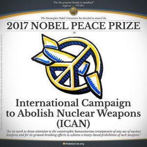 ICAN Nobels fredspris förbud mot kärnvapen
