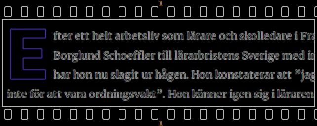 svart bild med text och filmkant